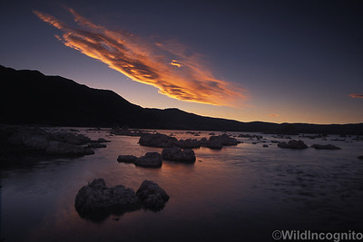 Sierra Wave Sunset Mono Lake