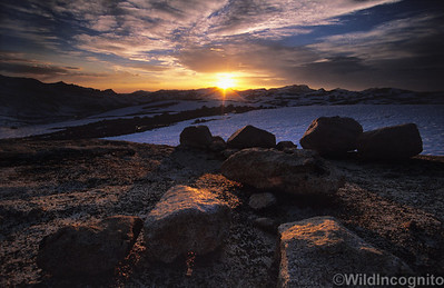 High Sierra Sunset Piute Pass