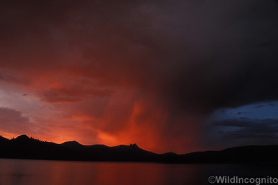 Dogtooth Peak Stormy Sunset Courtright Reservoir