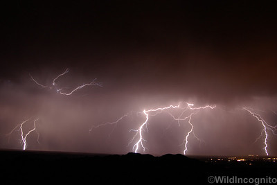 Lightening over Bishop Owens Valley