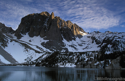 Temple Crag and Second Lake North Fork Big Pine Creek