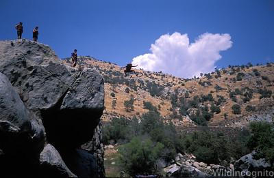 River Rafting Rock Jump Kern River
