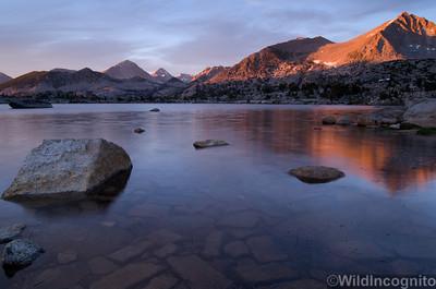 Marie Lake, Bear Creek Spire and Seven Gables John Muir Trail