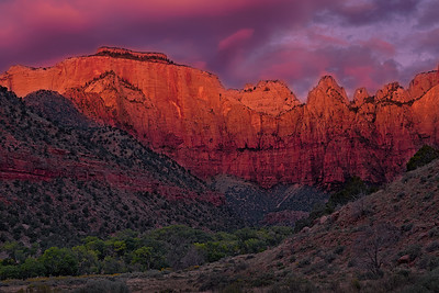 Zion National Park Sunrise - Towers of the Virgin