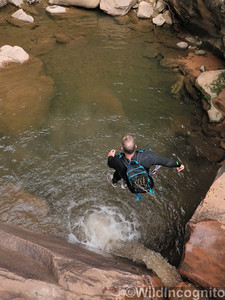 Pine Creek Canyon Jump (caution do not jump into pools)
