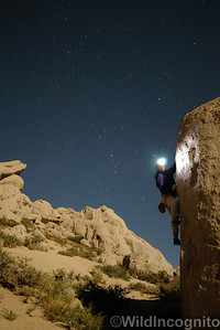Night Bouldering Self Portrait Buttermilk Country