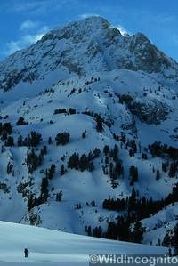 Backcountry Skier Red Slate Mtn