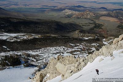 Skiing Above Bishop Wahoo Gullies