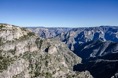 Arriving at Divesedero, the first big glimpse of the canyon