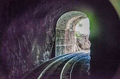The railway line is over 650 km and travels through 86 tunnels.
