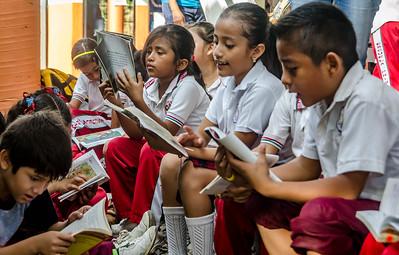 Reading day at Centenario School