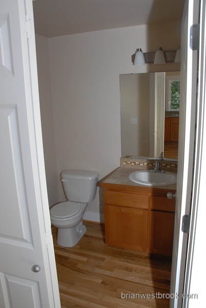 This is the powder room down just off the kitchen.  Don't forget to wash your hands!