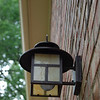 new lantern on the garage side door.