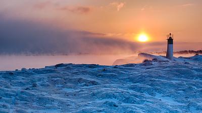 Sun Ice Fog