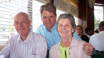 My parents Davis (Jr.) and Bebe at Peninsula Creamery in Palo Alto in June 2006. They came out for Jim's graduation.
