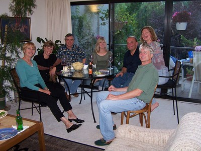 Friends... Margaret, wife Mary, Margaret's husband Rich, Janie, Per (from Sweden), Martha, Ron. September 2005