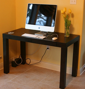 Our iMac got a new home... now if only we could keep it this clean.