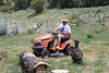 """Mowing the """"middle yard."""" A cold beer helps."""