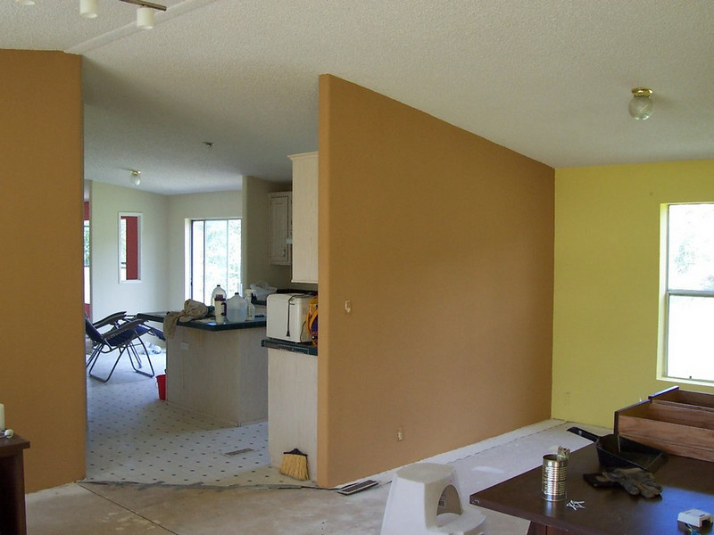 Mushroom tan walls make the yellow a little less shocking.