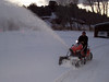 Five inches of fresh snow are no match for the mighty snowblower!