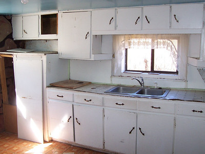 The kitchen in the adobe needs a lot of upgrading.