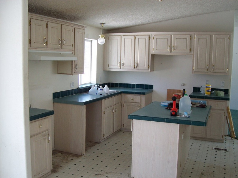 Pre-renovations:  The bright and airy kitchen will be nice once it is finished.
