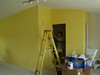 That is a lot of bright color in the entry room.