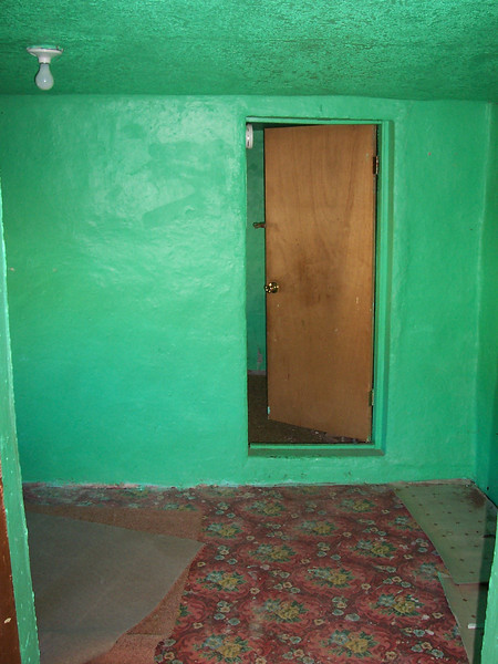 One brightly colored room in the adobe.