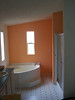 One of the first rooms to get painted is the master bathroom.