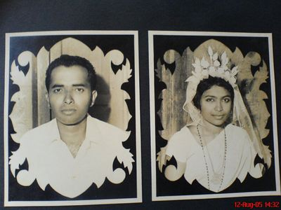 My sweet parents. My father Mr. P.J. Jospeh and mother Ms. N.T. Mary on their wedding day