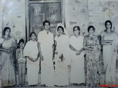 My sweet parents. My father Mr. P.J. Joseph, my Mother N.T. Mary and their Kith and Kins on my parentas'  Wedding Day