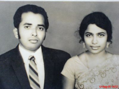 Me sweet parents. my father Mr. P.J. Joseph and my mother Ms. N.T. Mary