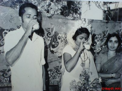My sweet parents. My father Mr. P.J. Joseph and my Mother N.T. Mary on their Wedding Day