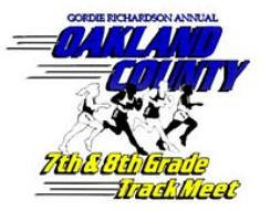 """Gordie Richardson Annual Oakland County 7th & 8th Grade Track Meet. The Oakland County Meet is for any middle school located in Oakland County.  More than 40 schools and over 1,000 athletes participate in the largest middle school county meet in the country.  See the future stars of Oakland County make their mark for the first time in their school career.  Visit their web site at: <a href=""""http://www.ocmstrackmeet.com/index.html"""">http://www.ocmstrackmeet.com/index.html</a>"""
