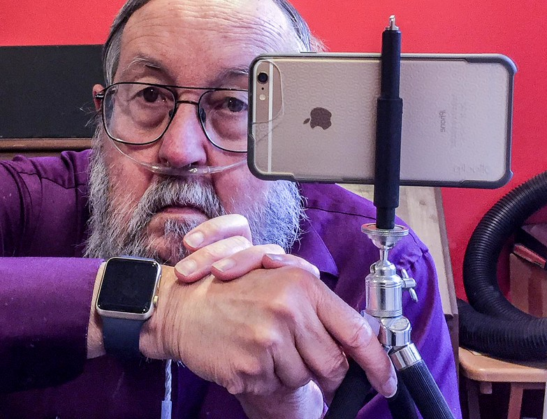 iPhone selfie with Apple watch  (2015 November)