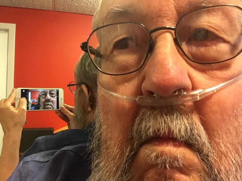 Selfie of myself taking a selfie of myself (2015 September)