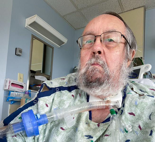In the hospital with trach (2020 August)