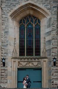 Church windows wedding day