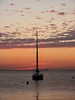 SOLITUDE<br /> Peace and quiet surrounds this sailboat as the sun begins to rise over beautiful Lake Michigan!