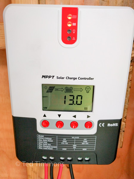 The MPPT charge controller.