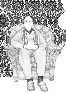 Govind / ink on paper (mounted - not framed) / 91.5cm x 67cm / original £650 / image 1294