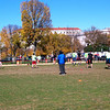 flag football tournament on the mall