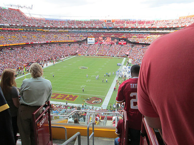 Lions game at Fed Ex Field