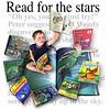 green reading illustration