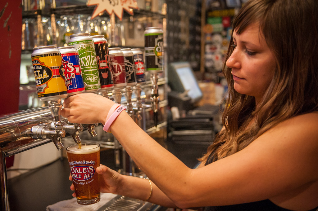 The best place to end your mountain bike ride is right here at Oskar Blues in Brevard, North Carolina.