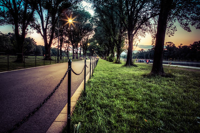 Lincoln Memorial Path in Summer