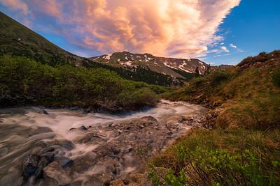 Sunset on Peru Creek