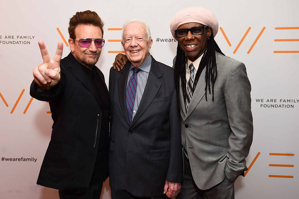 BONO, President Jimmy Carter & Nile Rodgers, NY