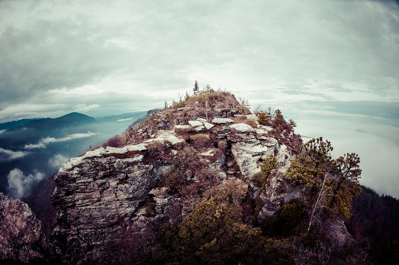 One of the many rock outcroppings along the Chimney's in Linville Gorge Wilderness Area.
