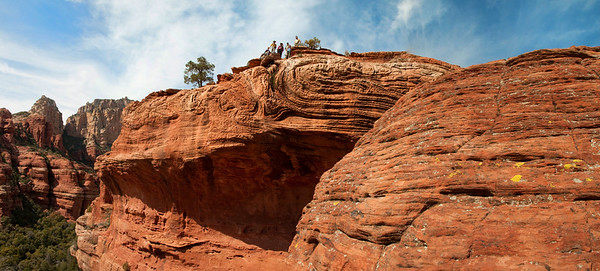 Hikers near Boyton Canyon in Sedona, Arizona